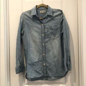 Madewell Chambray Ex Boyfriend Shirt